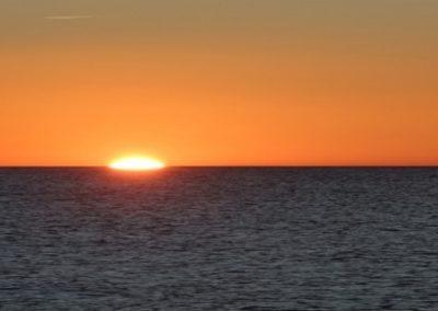Frontignan Mer soleil du matin